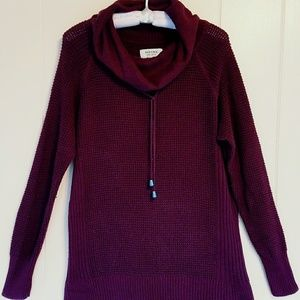 Sonoma Burgundy Cowl Neck Sweater